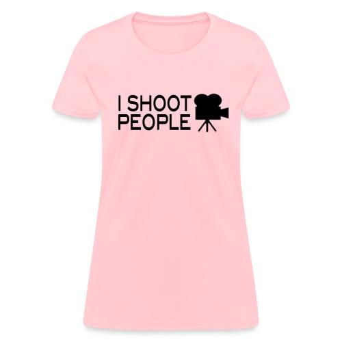 I•SHOOT•People Joke T-Shirt [womens] - Women's T-Shirt