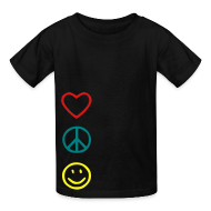 Kids' Shirts ~ Kids' T-Shirt ~ Love Peace Happines shirt