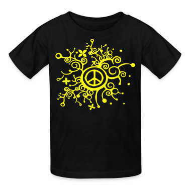 curly_peace Kids' Shirts
