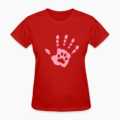 Handprint Paw Women's T-Shirts