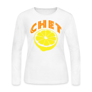 Long Sleeve Shirts ~ Women's Long Sleeve Jersey T-Shirt ~  Chet Women's Long Sleeve Jersey Tee