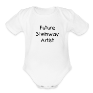 Baby Bodysuits ~ Baby Short Sleeve One Piece ~ Future Steinway Artist