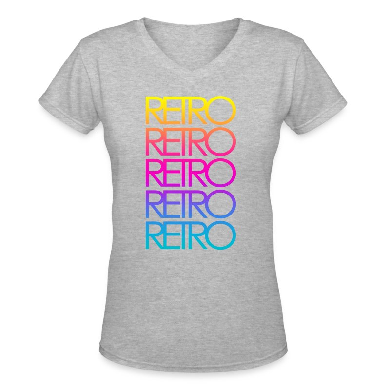 Colorful Retro - Women's V-Neck T-Shirt