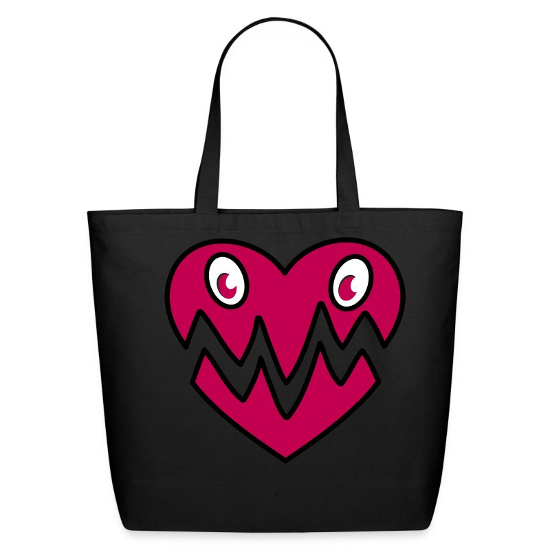 Monster Heart Bag Pink - Eco-Friendly Cotton Tote