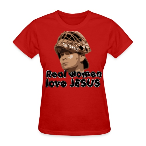Real women love Jesus (Flores). - Women's T-Shirt