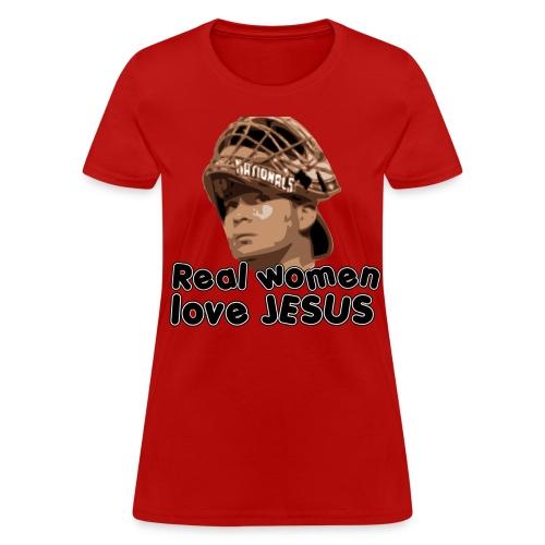 Real women love Jesus (Flores). - Women's T-Shirt