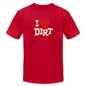 I Heart Dirt - Unisex - Men's T-Shirt by American Apparel