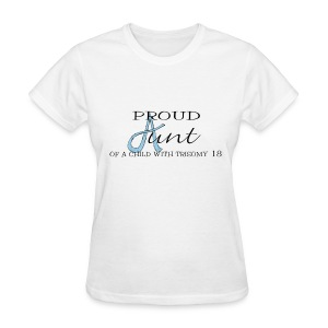 Proud Aunt T18 with names on back - Women's T-Shirt