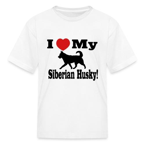 I love my Siberian Husky Children's T-Shirt - Kids' T-Shirt