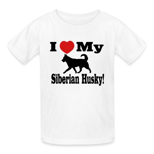 I love my Siberian Husky Children's T-Shirt - Kids' T-Shirt