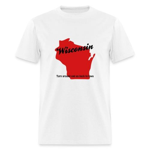 Turn Around - White - Men's T-Shirt