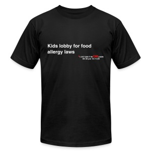 Kids lobby for food allergy laws - Men's Fine Jersey T-Shirt
