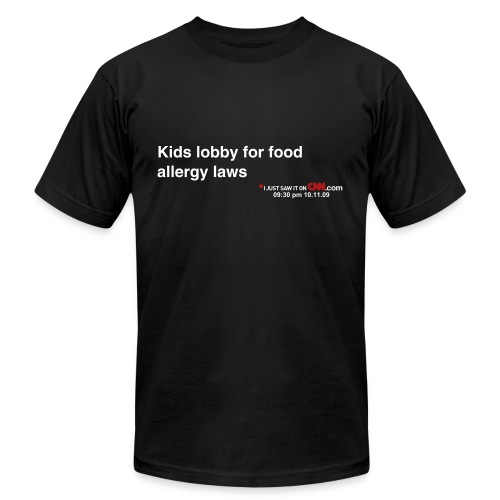 Kids lobby for food allergy laws - Men's  Jersey T-Shirt