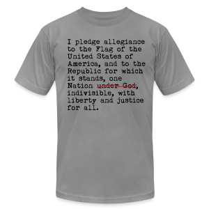 Pledge - Men's T-Shirt by American Apparel