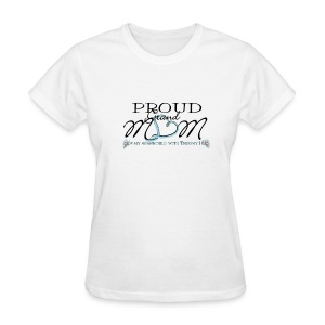 Proud Grandmom of T18 angel names with pink ribbon on back - Women's T-Shirt
