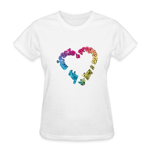 T13 Miracle in progress names with pink ribbon on back - Women's T-Shirt