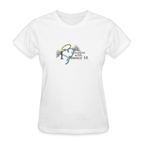 Love someone with T18 angel names with pink ribbon on back - Women's T-Shirt