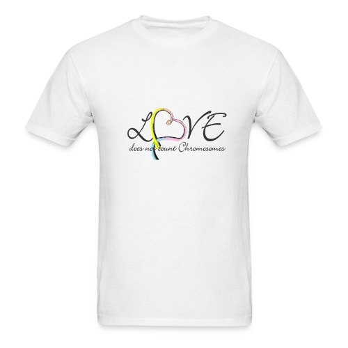 Rainbow colored heart Love does not count chromosomes - Men's T-Shirt
