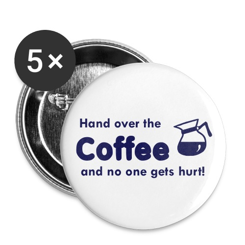 Coffee Pin - Large Buttons