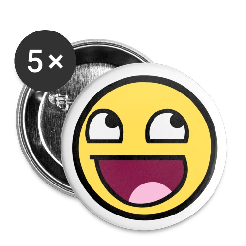 Happy Face 2.25 inch pin - Large Buttons