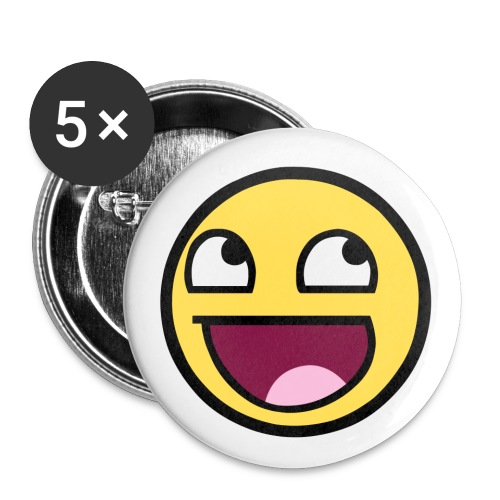 Happy Face 2.25 inch pin - Small Buttons