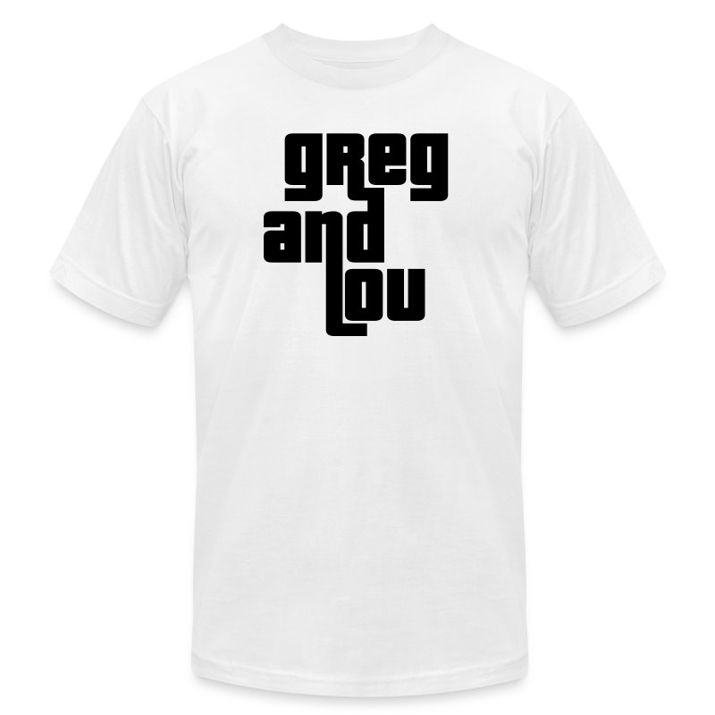 Greg and Lou (black text) - Men's T-Shirt by American Apparel