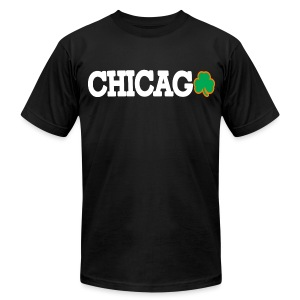 Chicago Shamrock - Men's T-Shirt by American Apparel