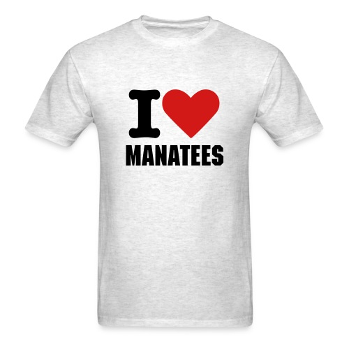 I Love Manatees - Men's T-Shirt