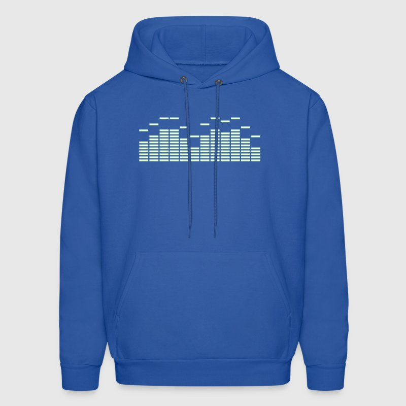 Equalizer Frequency DJ Sound Music Beat Pop Techno discjockey record Hoodies - Men's Hoodie