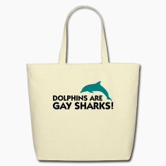 Dolphins Are Gay Sharks (2c) Bags