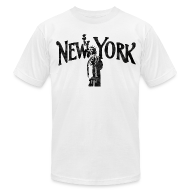 T-Shirts ~ Men's T-Shirt by American Apparel ~ Vintage Lady Liberty New York