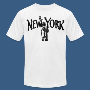 Vintage Lady Liberty New York - Men's T-Shirt by American Apparel