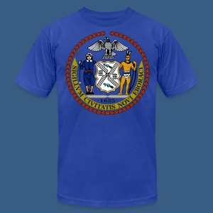 New York City Seal - Men's T-Shirt by American Apparel
