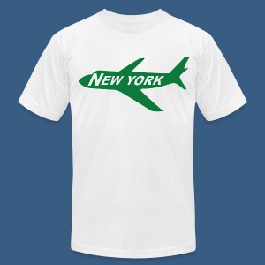 NY Jet - Men's T-Shirt by American Apparel