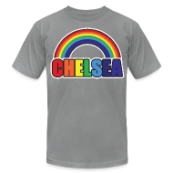 T-Shirts ~ Men's T-Shirt by American Apparel ~ Chelsea Rainbow
