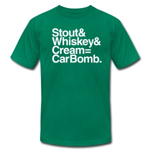 Stout & Whiskey & Cream = Car Bomb (AA) - Men's T-Shirt by American Apparel
