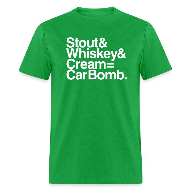 Stout & Whiskey & Cream = Car Bomb