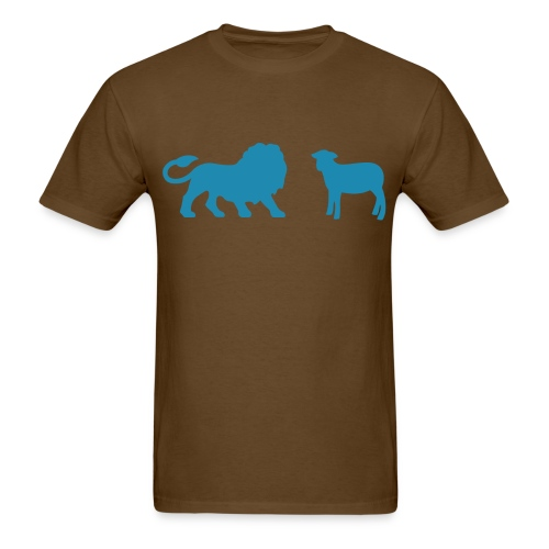 Lion and the Lamb  - Men's T-Shirt