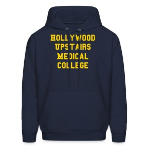 Hollywood Upstairs Medical College Hoodie (Navy) - Men's Hoodie