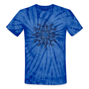 """Barbed Blue"" Fractal Geometry Art T-Shirts"