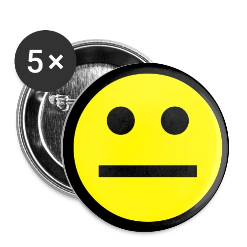 Neutral Face - Buttons small 1'' (5-pack)