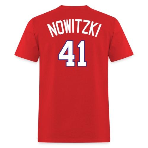 Texas Rangers #41 Dirk Nowitzki - Men's T-Shirt