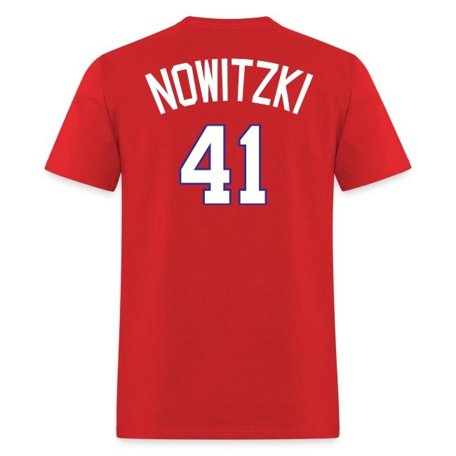 factory price dad36 d501a Texas Rangers #41 Dirk Nowitzki | Men's T-Shirt