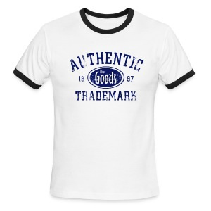 Authentic Trademark Ringer - The Goods Brand - Men's Ringer T-Shirt