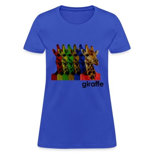 Giraffe Wearing Jacket Shirt - Women's T-Shirt