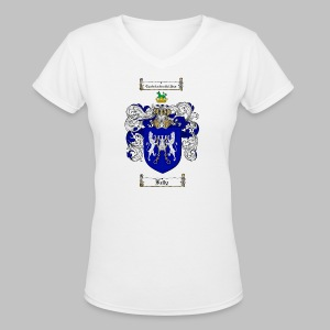 Kelly Coat of Arms 3 - Women's V-Neck T-Shirt
