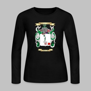 Hayes Coat of Arms  - Women's Long Sleeve Jersey T-Shirt