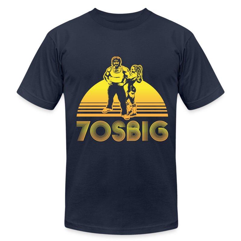 Throwback - Navy - AA - Men's Fine Jersey T-Shirt
