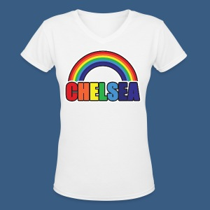 Chelsea Rainbow - Women's V-Neck T-Shirt