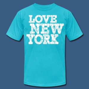 Love New York Sliced - Men's T-Shirt by American Apparel